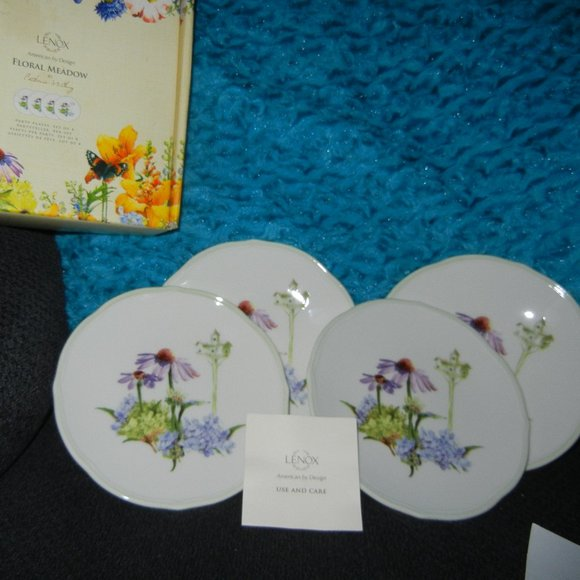 Lenox Floral Meadow Party Plates 4 ct Catherine